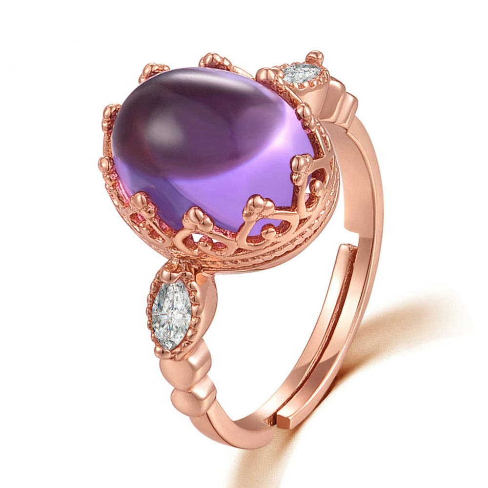 Purple Amethyst Queen Ring