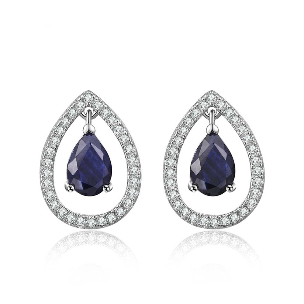 Blue Sapphire Teardop Earrings