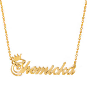Personalized Custom Name Crown Necklace
