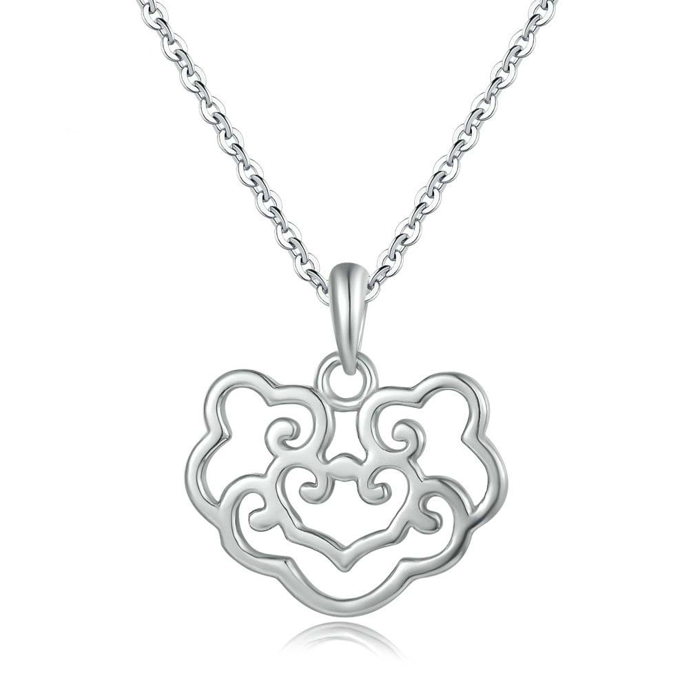 Safety Lock Pendant Necklace
